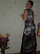 Платье на основе салфетки