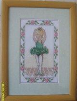 Балеринка в зеленом