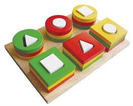 Доска для сортировки и нанизывания геометрических фигур