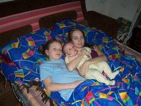 С сестричками!