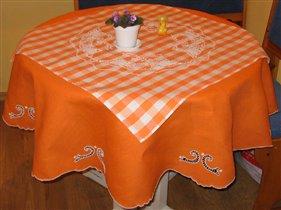 Оранжевая скатерть
