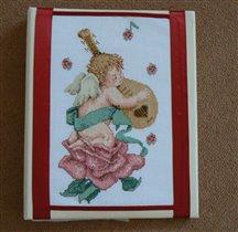 Обложка для свадебного фотоальбома с вышивкой