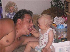 Таня с папочкой