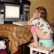 Дочка :) Фотоконкурс 'Дети за компьютером'