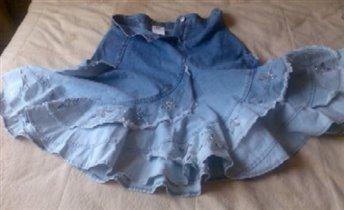 Джинсовая юбка 46 разм