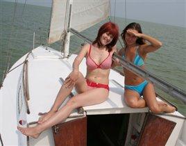 Ейск, август 2007 я и подруга Аня