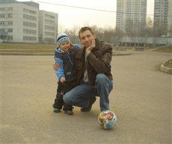 Мы с папой -футболисты