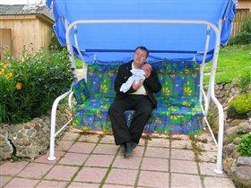 папа с Артемкой