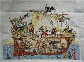 Пиратский корабль от Bothy Threads