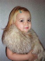 Маленькая модница в мехах