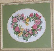 Bucilla 43515 Rose Heart Wreath