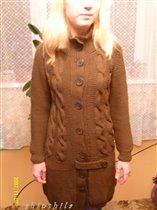 Пальто.  Пряжа Katia Merino