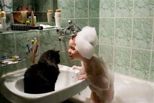 а ты мыться любишь?