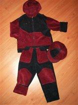 Bельветовый костюмчик 3 предмета 600 pe