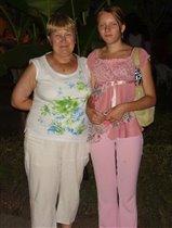 С внучкой Ксюшей