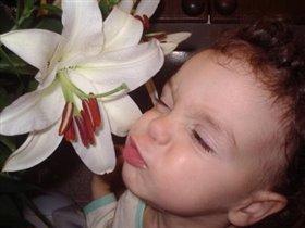 Ах, как я люблю цветы! Очень вкусно пахнешь ты!