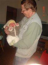 С любимым дедушкой!