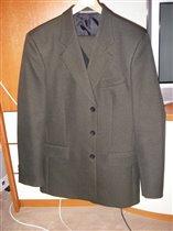 Мужской костюм темно-зеленый теплый
