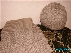 Комплект: шапка с шарфом