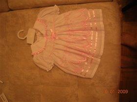 Платье на крещение 0-3. Новое 200 руб.