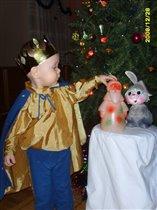Дед Мороз и зайка. А они  настоящие?..