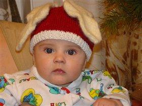 Заяц Коля в красной шапке