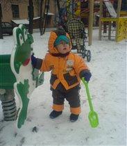 первый выход в снег