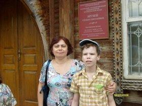 На экскурссии в г.Тарусе у музея Цветаевых