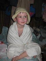 Надя и панама в бане.