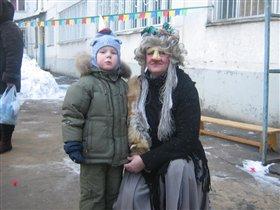 Алеша на праздновании масленицы в детском саду