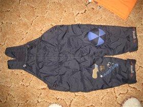 Продается зимний костюм, куртка с полукомбинезоном, р.80, на спине куртки рюкзак, цена 1200р.