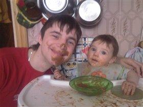 Мы с папой любим кушать вместе