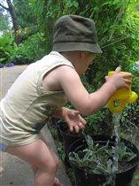 я на даче помогаю и цветочки поливаю . святослав волгоград
