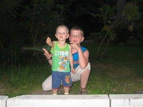 Влад и Миша летом