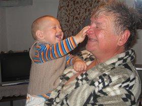 Смешной нос у деда!
