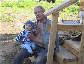 Мы с дедушкой сами строим дом!