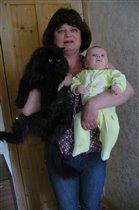 бабушка и ее домашние питомцы
