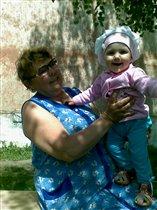 Бабушка Надя с Настей