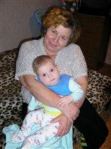 С любимой бабулей