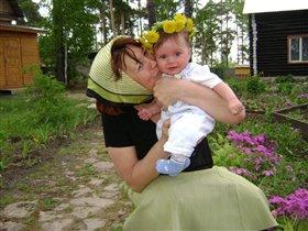 Любимая бабушка и первенец внучок!