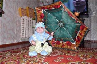 А я весь такой гламурный, с зонтиком...