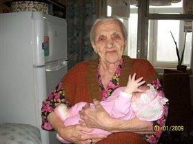 Маргаритка и пра пра бабушка.