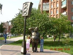 Памятник Светофору в г.Новосибирске
