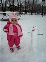 Лепим Снеговика.