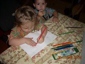 Я и мой брат пишем письмо Деду Морзу!!!