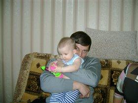 Дарюша с дедушкой.