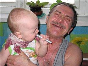 Дед, а ты зубы почеши как я, быстрей вырастут!