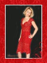 Платье 'Соблазн' связано на заказ.