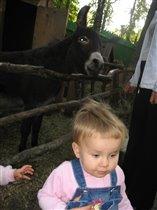 Леруся в детском зоопарке
