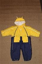 Комбез-конверт желто-синий оч. красивый 74-80